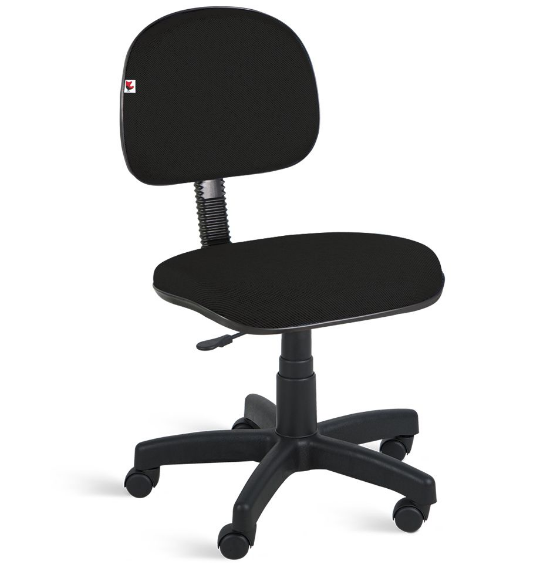 Cadeira Secretária Sem Braço Preta