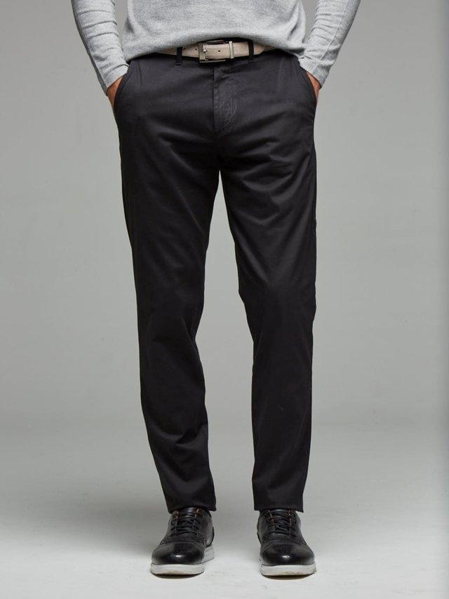 Pantalon Gabardina Negro Azul Saten Rochas