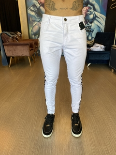 CALÇA JEANS BLESSED LISTRA LATERAL - Boutique ele