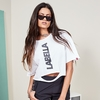 Blusa Cropped Destroyed Branca - Labellamafia