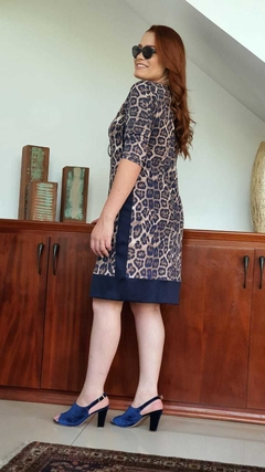 VE-0233 - Vestido estampa animal print - comprar online