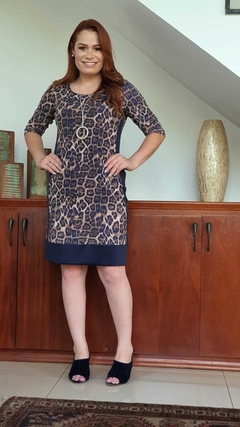 Imagem do VE-0233 - Vestido estampa animal print