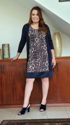 VE-0233 - Vestido estampa animal print - Kelch