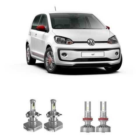 Kit Lampada Philips Ultinon Super Led Farois E Milha Vw Up