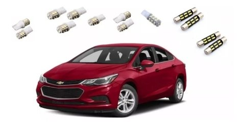 Kit Lampadas Internas + Placa Cruze 2018