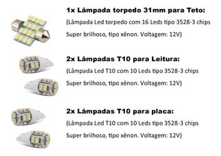 Kit Lampadas Led Nissan Sentra 2011