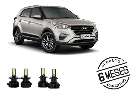 Kit Lampadas Super Led Tech One Milha + Farol Hyundai Creta