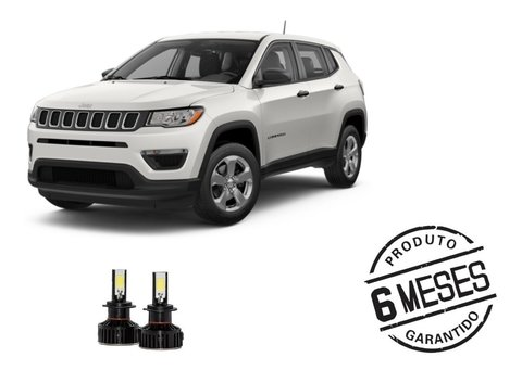 Kit Lampadas Super Led Tech One Para Milha Jeep Compass