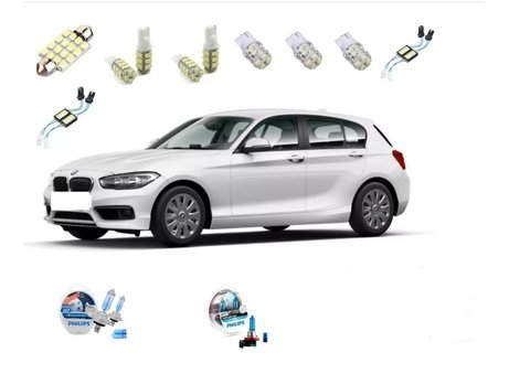 Kit Led + Philips Crystal Vision Baixo Milha Bmw 118i