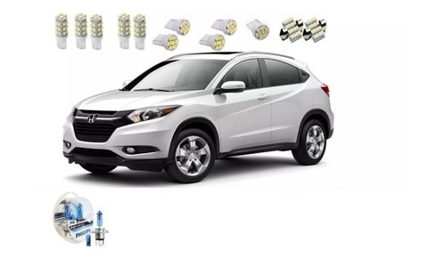 Kit Led + Philips Crystal Vision Farol Honda Hr-v