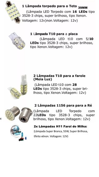 Kit Led + Philips Crystal Vision Milha Clio