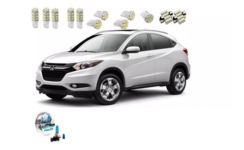 Kit Led + Philips Crystal Vision Milha Honda Hr-v
