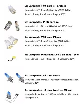 Kit Lâmpadas Led Tipo Xenon Super Branca Vectra 95