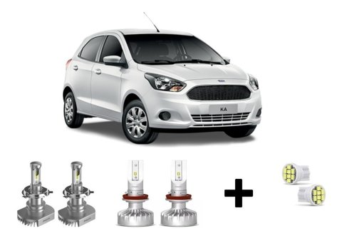 Kit Super Led Philips Ultinon + Brinde Ford Ka Até 2015