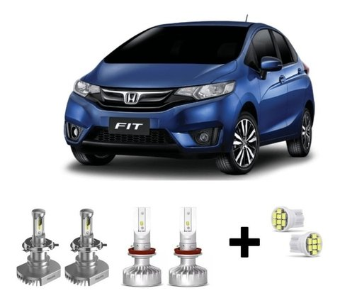 Kit Super Led Philips Ultinon + Brinde Honda New Fit