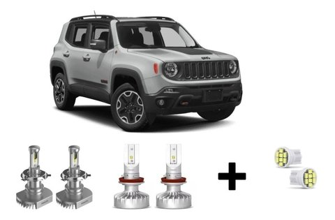 Kit Super Led Philips Ultinon + Brinde Jeep Renegade