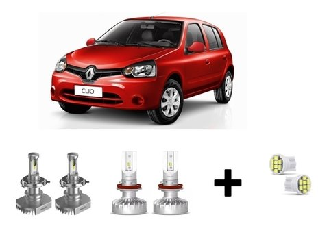 Kit Super Led Philips Ultinon + Brinde Renault Clio