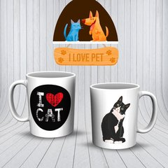 Caneca ceramica I love Cat