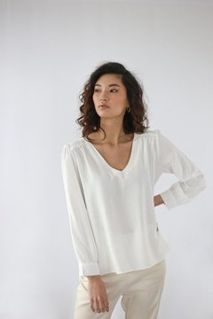 Blusa Angela - Chiffon de Viscose Off White