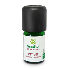 Óleo Essencial de Vetiver Terraflor Aromaterapia 5 ml