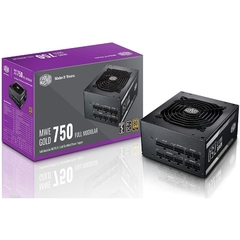 Fuente Cooler Master MWE Gold 750W 80 Plus