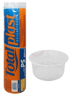 Pote Redondo 200 ML 100UN Totalplast