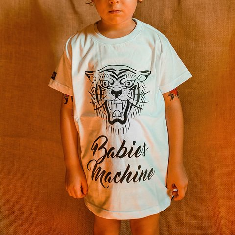 CAMISETA INFANTIL BABIES MACHINE TIGER UNISSEX na internet