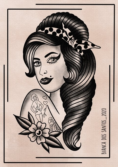 Print Amy Winehouse