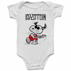Body Bebê Led Zeppelin Snoopy