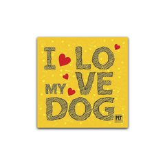 Placa I love my Dog  Petquadros