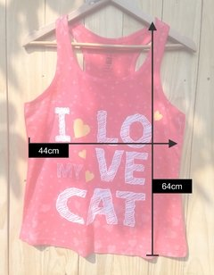Camisa Regata Baby look - I Love my Cat  (Peça Unica) na internet