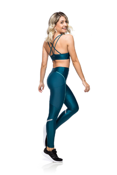 Legging Compression Reflect - Verde escuro