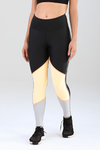 Legging Authenctic Run Blocks - Preta e Laranja