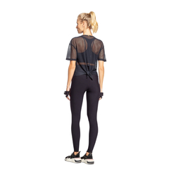 Blusa Live Cut Tie Mesh Feminina - Preto - The Fit Brand
