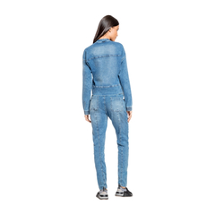 Calça Live Stone Denim Feminina - Azul - The Fit Brand