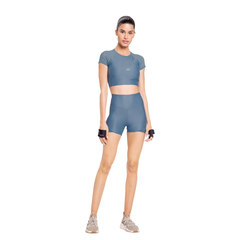 Shorts Live Fit L! Holographic Feminino -Azul