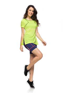 Camiseta Sporty Amarelo Fluor - The Fit Brand