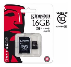 Memoria 16 Gb Kingston 80 Mb/s Clase 10