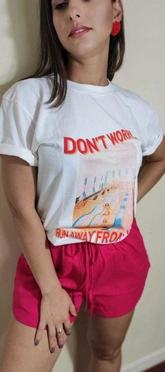 T-shirt Don't worry na internet