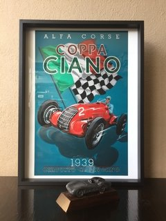 Poster Vintage Coppa Ciano 1939