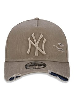 Boné New Era MLB 9Forty Destroyed New York Yankees Kaki MBI19BON113 - comprar online