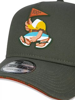 Imagem do Boné New Era Trucker 9Forty Havaianas Verde Nec20bon084
