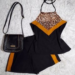 Conjunto Blusa e Shorts Animal Print