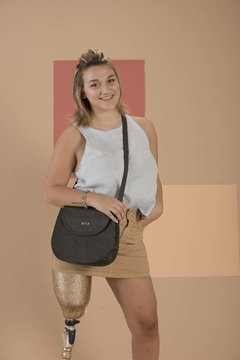 Cruelty Free Saddle Bag in Pineapple Leather Pinatex on internet