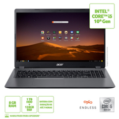 NOTEBOOK ACER 15,6 HD A315-54-53M1 I5-10210U/ 8GB/ 1TB HD + 128GB SSD