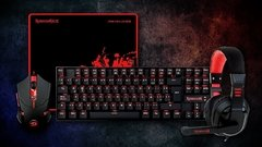 KIT GAMER REDRAGON  K552-BB TECLADO ESP AURICULAR MOUSE Y PAD en internet