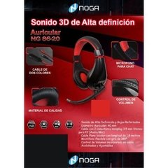 Auricular Noga Stormer Ng-8620 Gaming Con Mic Pin 3.5mm en internet