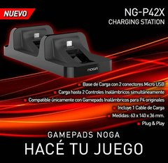 Cargador Joystick Ps4 Doble Noga P42x Soporte Gamer
