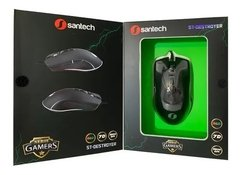 Mouse Gamer Santech Led Rgb Rubber Destroyer 7 Botones