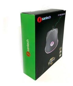 Mouse Gamer Santech Led Rgb Rubber Destroyer 7 Botones - comprar online